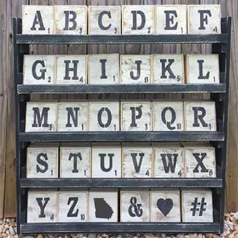 Letter Tile Display Package With Trays