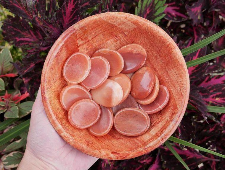 Peach Moonstone Worry Stones
