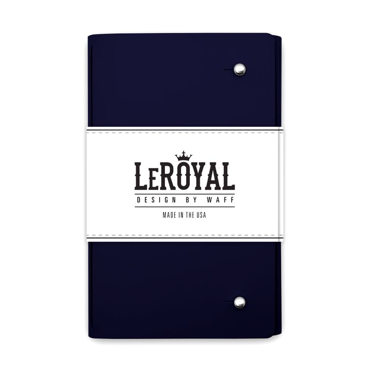 LeRoyal Recycled Leather Notebook