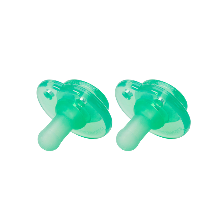 Nookums Paci-Plushies Replacement Pacifier - Green 2 Pack
