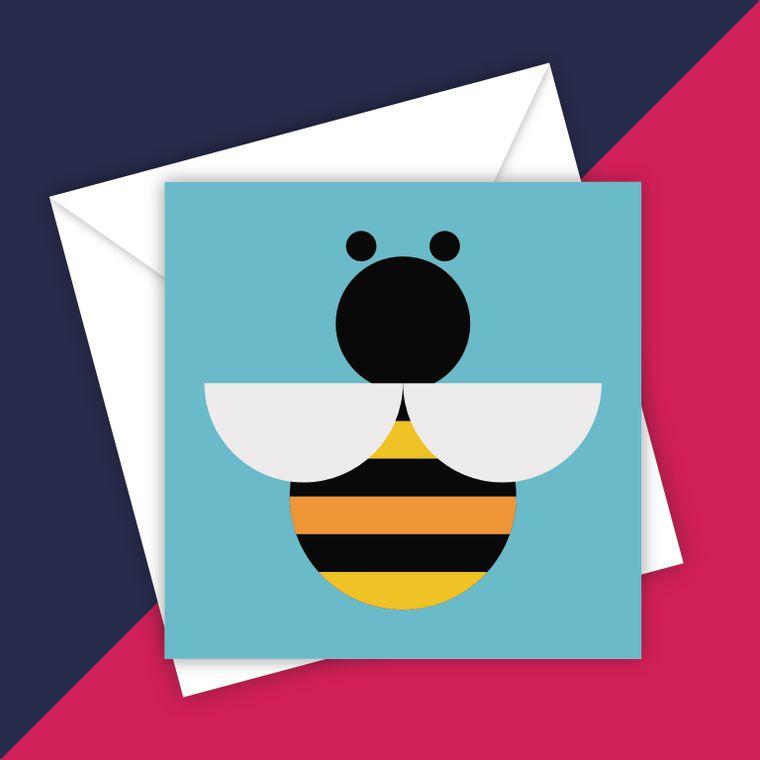 Geo Bee blank greeting card