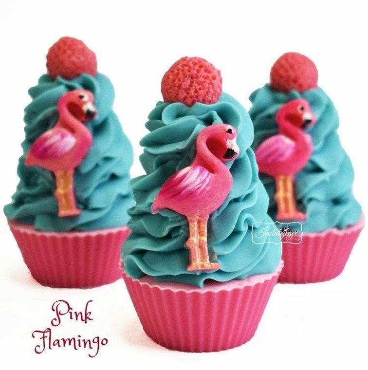 Pink Flamingo Artisan Cupcake