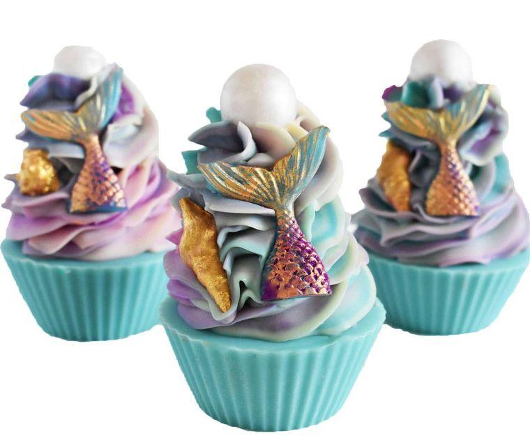Mermaid Kisses Artisan Soap Cupcake