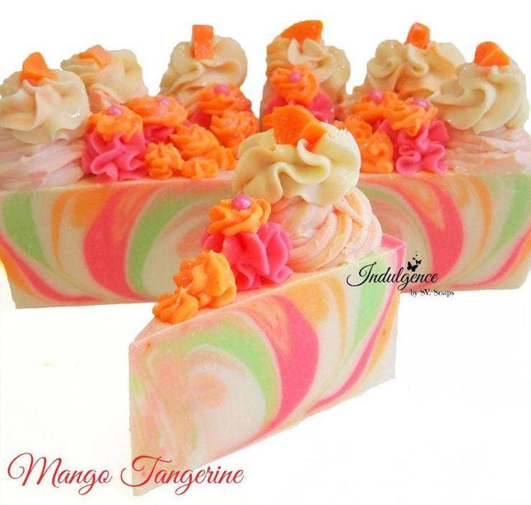 Mango Tangerine Soap Cake Slice