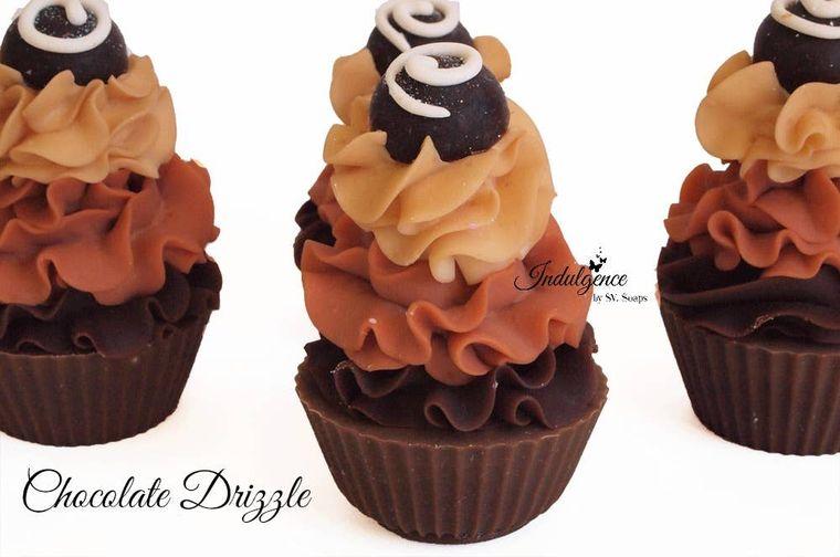 Chocolate Drizzle Soap Cupcake