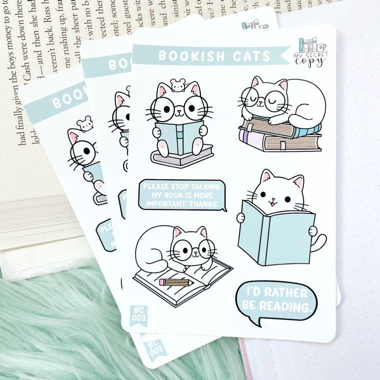 Bookish Cats Sticker Sheet