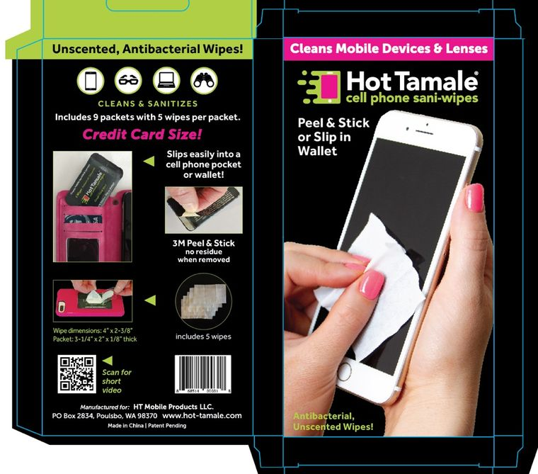 Hot Tamale Cell Phone Wipes Kit
