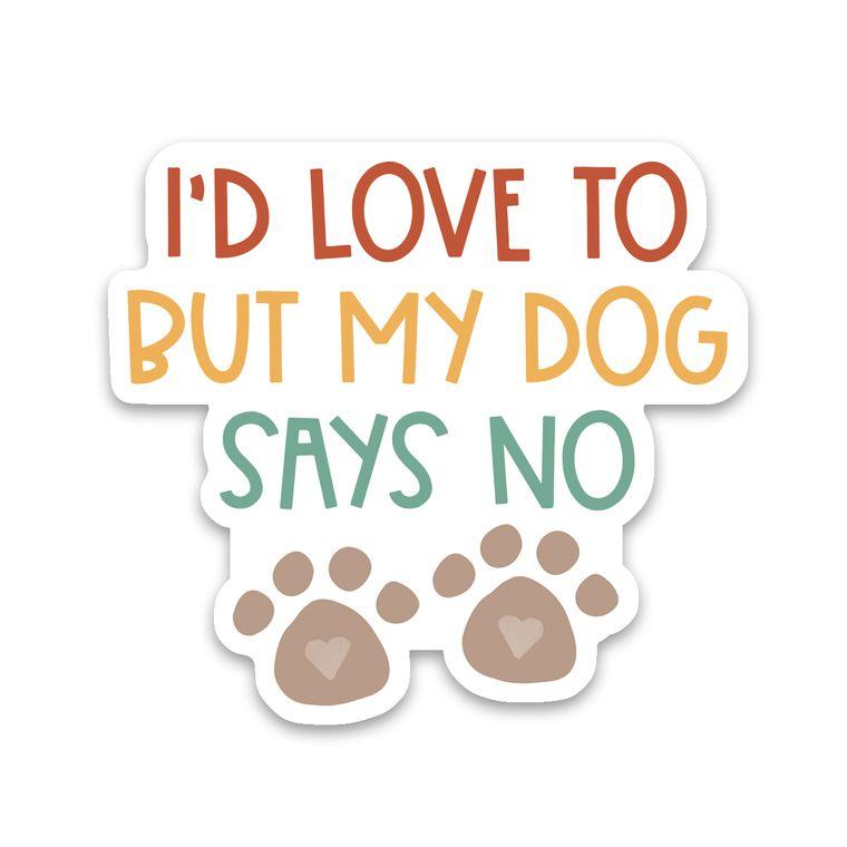 Sticker Dog Says No