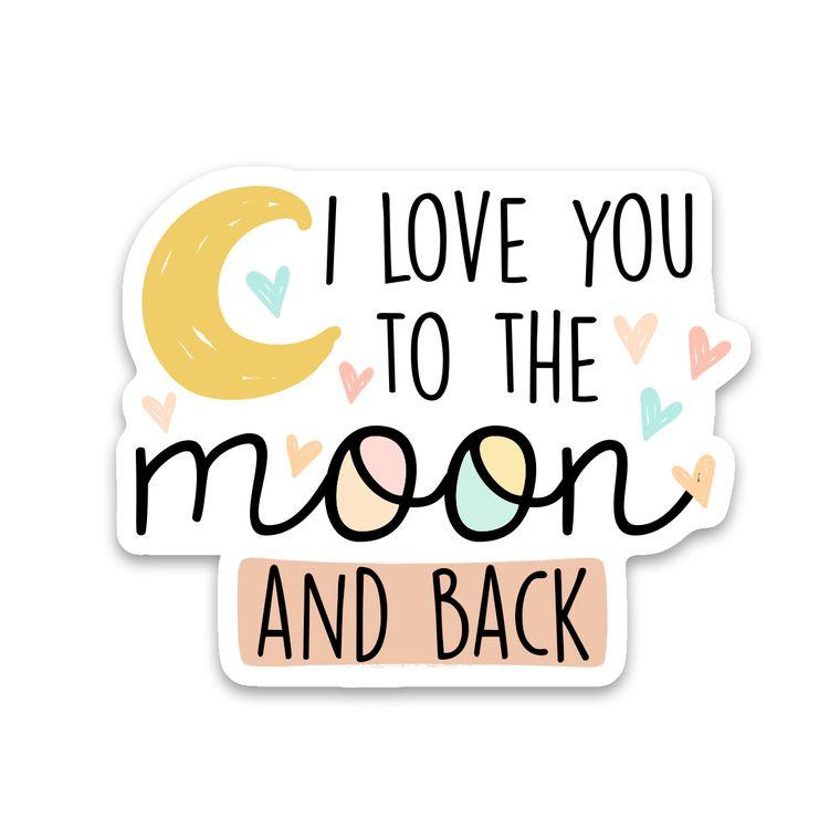 Sticker Moon & Back