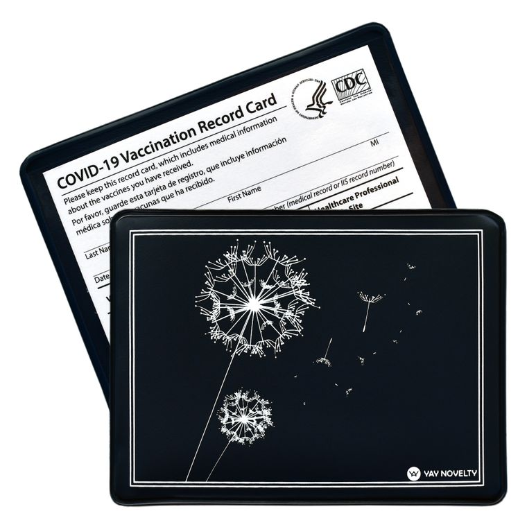 Vaccination Card Holder - Vaccine Card Protector - Made in USA - Day Dreaming Navy