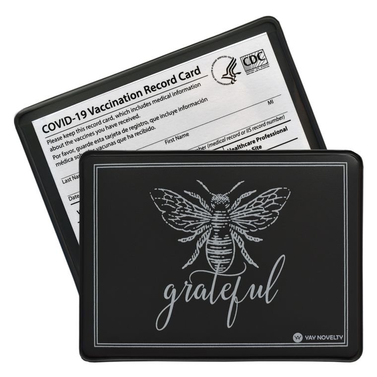 Vaccination Card Holder - Vaccine Card Protector - Made in USA - Be Grateful
