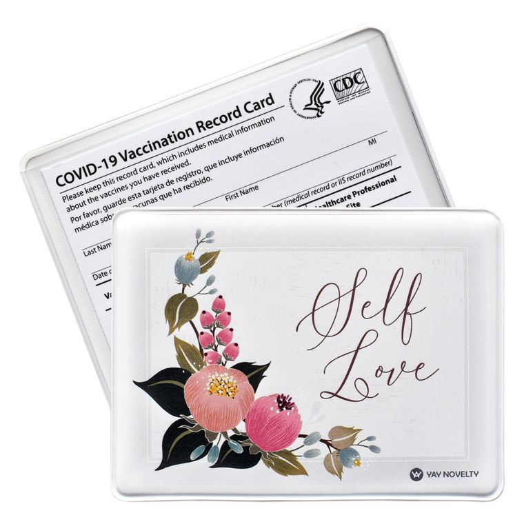 Vaccination Card Holder - Vaccine Card Protector - Made in USA - Self Love
