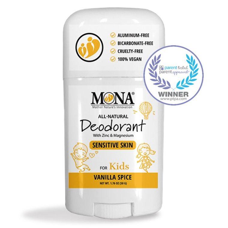 100% NATURAL DEODORANT for KIDS | For SENSITIVE SKIN | Aluminum & Baking Soda Free | VANILLA SPICE