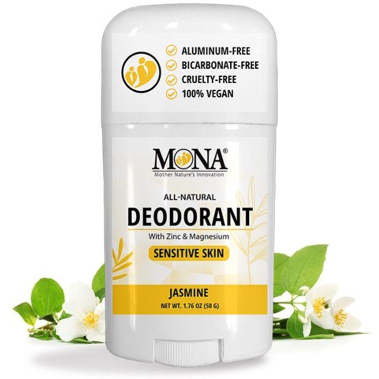 JASMINE | All Natural Deodorant for Women, Men, & Teens | Sensitive skin | NO Baking soda, Aluminum