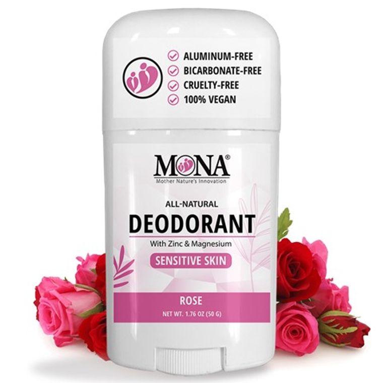ROSE | All Natural Deodorant for Women, Men, & Teens | Sensitive skin | NO Baking soda, Aluminum