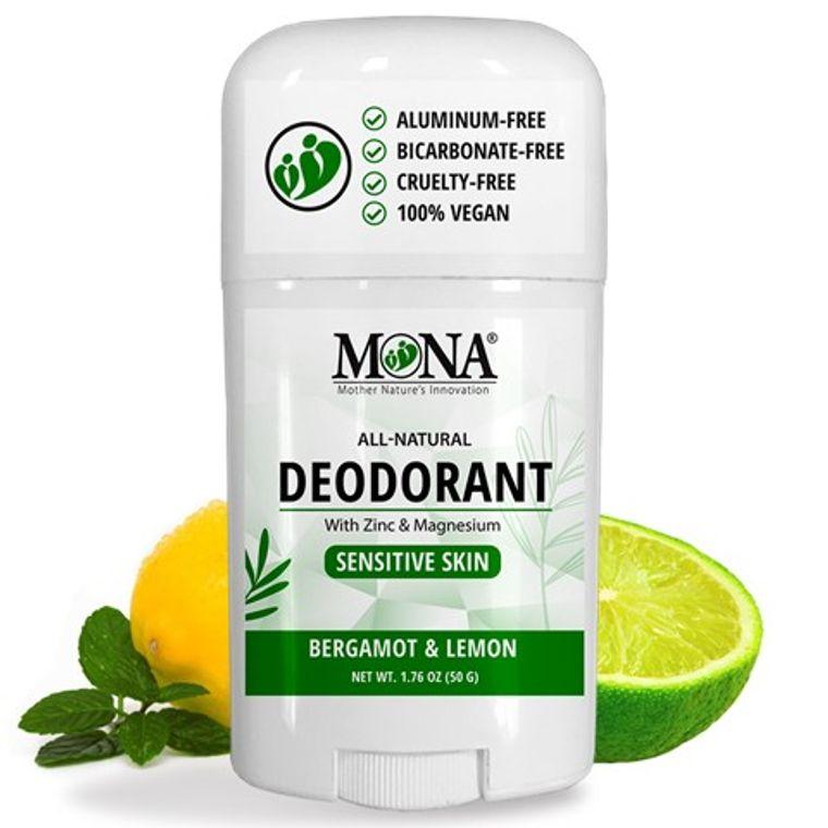 BER. & LEM. | All Natural Deodorant for Women Men & Teens | Sensitive skin | NO Baking soda Aluminum