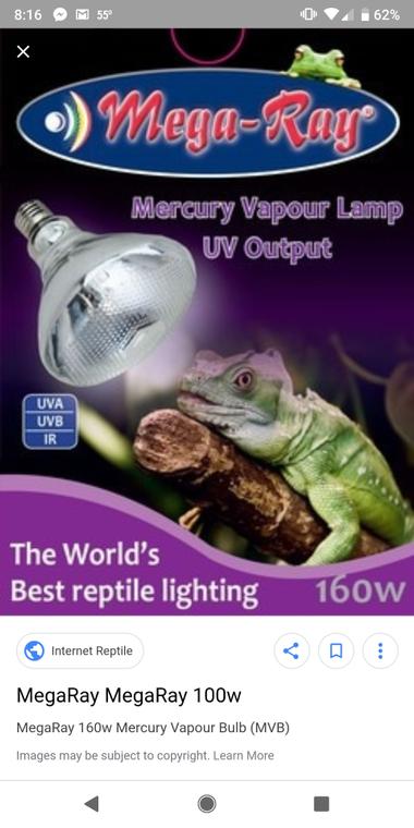 MegaRay Mercury Vapor Bulbs - 4 SKUs