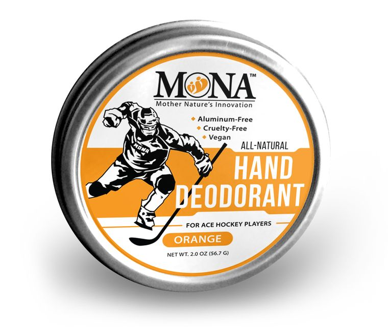 All Natural HAND DEODORANT for  Hockey Players | For athletes who wear gloves | Vegan Non-GMO 2.0 Oz