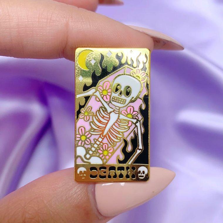 Death tarot card enamel pin