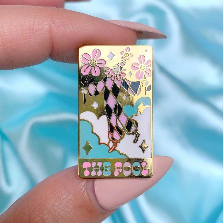 The fool tarot card enamel pin