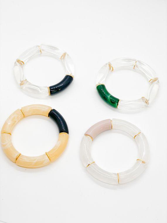The Astor Large Acrylic Bangle Bracelet (12mm)