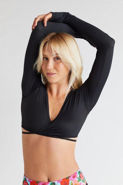 Long Sleeve Fitness Shrug Top