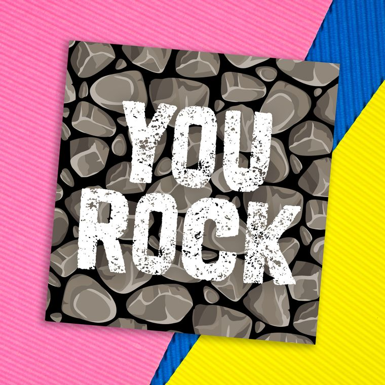 Congratulations card: You rock