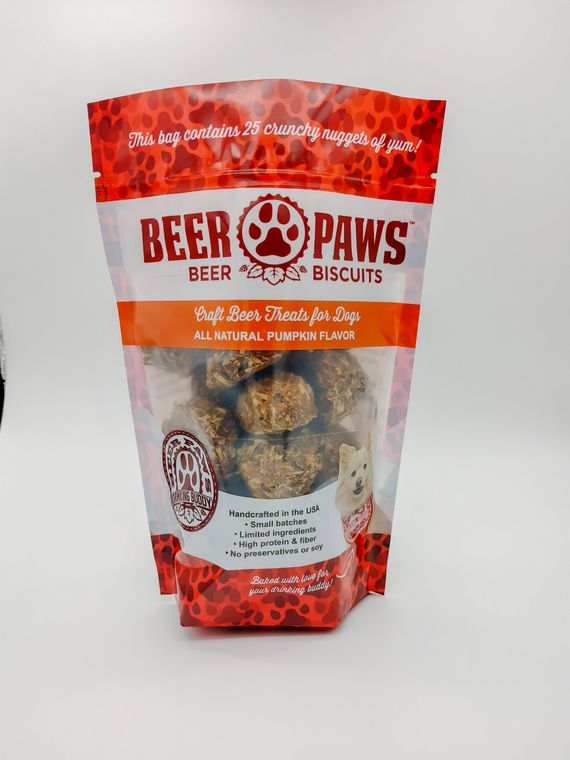 Pumpkin Spice Beer Biscuits for Dogs - 25-count Pouch