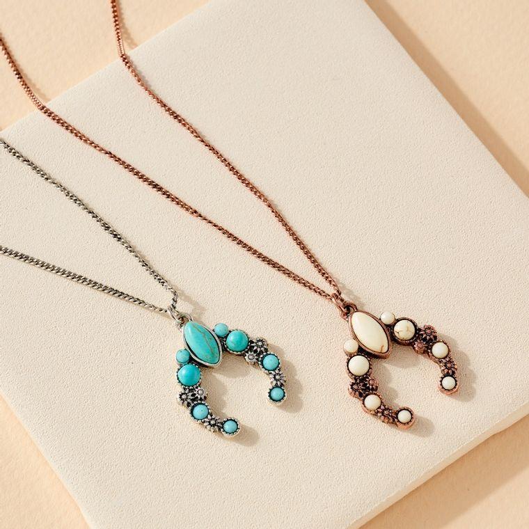 Squash Blossom Pendant Short Necklace