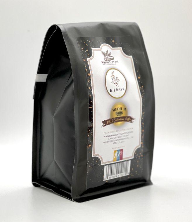 10 oz Kikos Colombian Coffee - Medium Dark Roast - Whole Bean