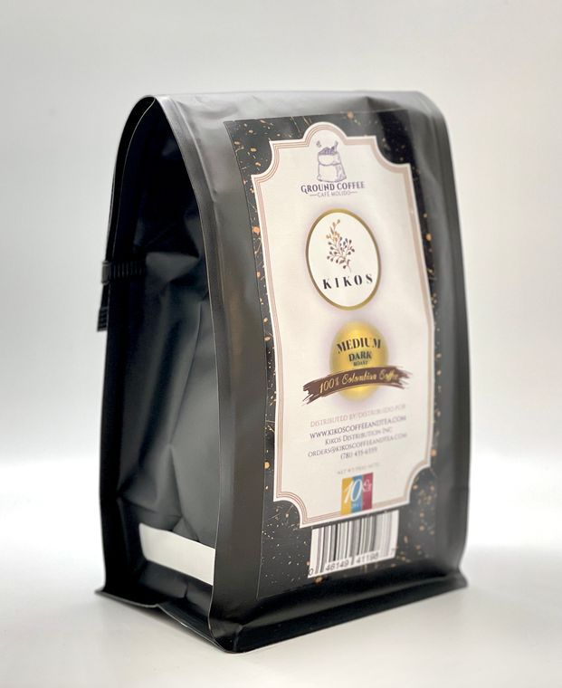10 oz Kikos Colombian Coffee - Medium Dark Roast - Ground
