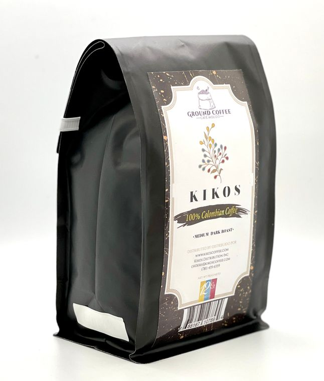 12 oz Kikos Colombian Coffee - Medium Dark Roast - Ground Coffee