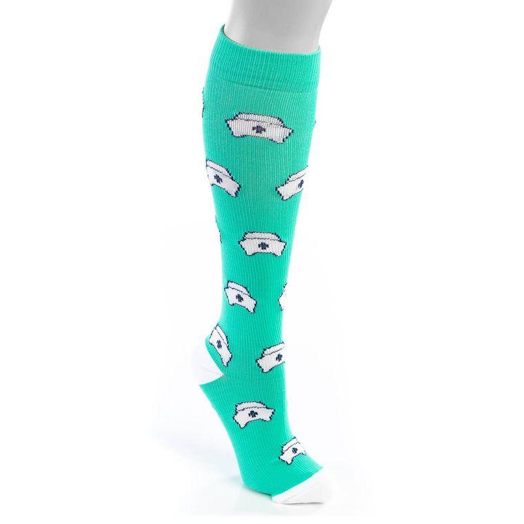 Nurse Hat Compression Socks- Large/XLarge
