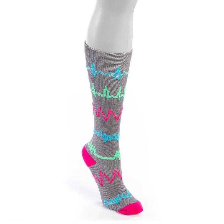 Grey Rhythm Compression Socks- Small/Medium