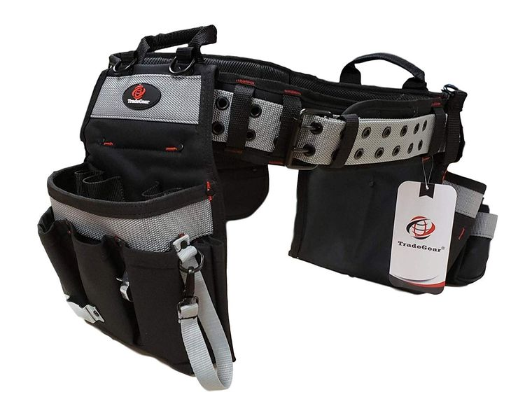 """TradeGear PART#SZA Electrician's Belt & Bag Combo - Heavy Duty Electricians Tool Belt Designed for Maximum Comfort & Durability - Ideal for All Electricians Tools - Fits Sizes S - L (26""""-40"""")"""