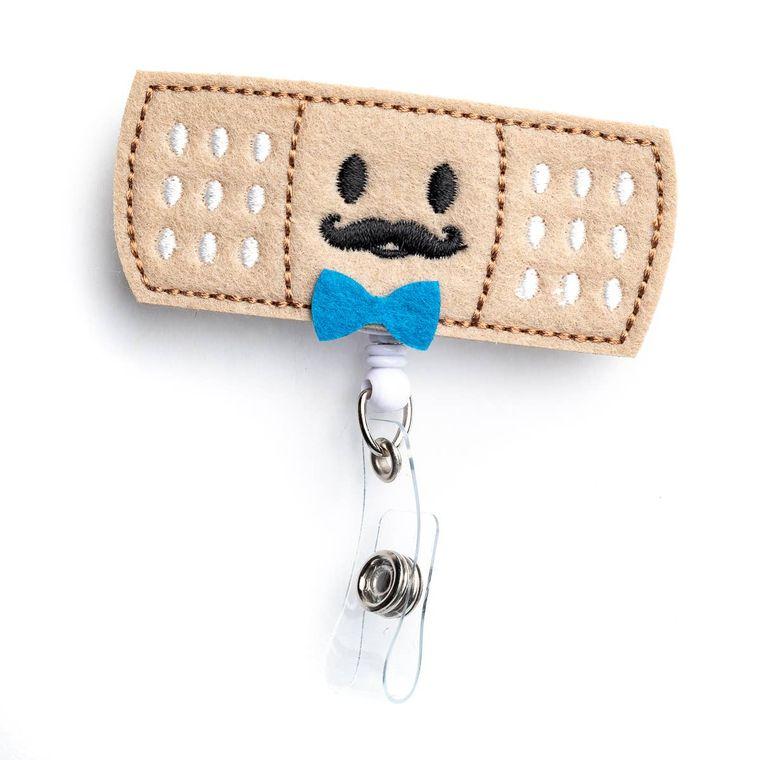 Boy Bandaid Badge Reel Holder