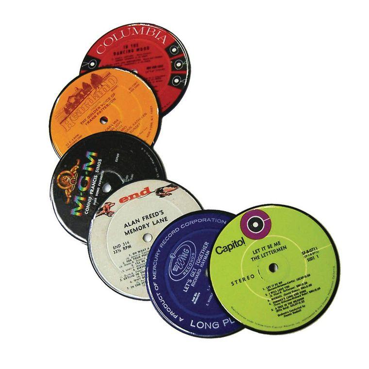 Vinyl Record Label Coasters (Set of 6)
