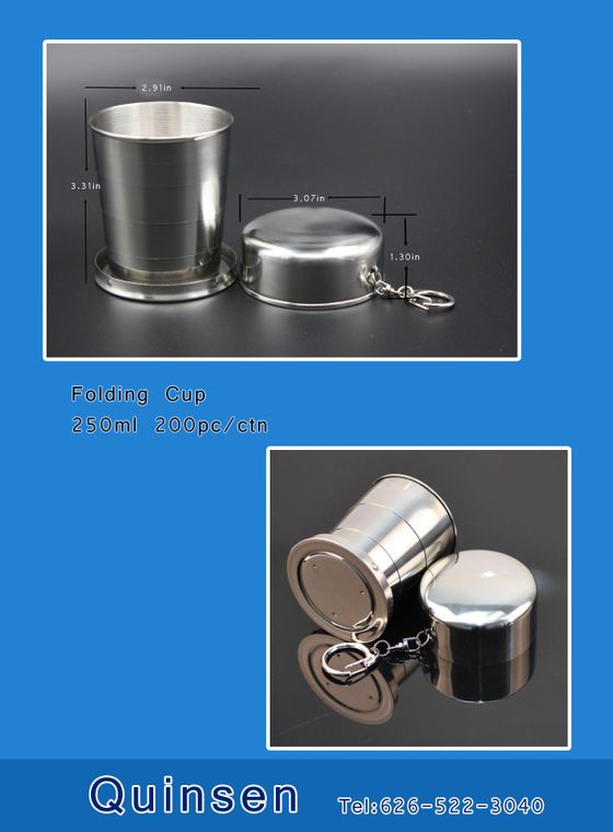Stainless folding cup