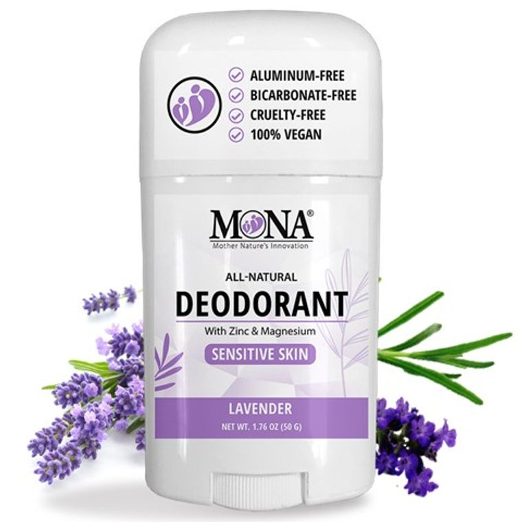 LAVENDER | All Natural Deodorant for Men & Women | Sensitive skin | NO Baking soda, Aluminum