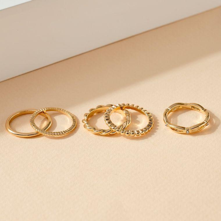 Set of 5 Metal Rings