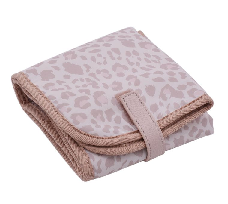 Changing Pad - Leopard Print & Genuine Leather Closure