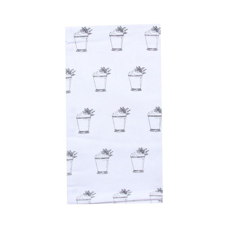 Mint Julep Repeat Tea Towel