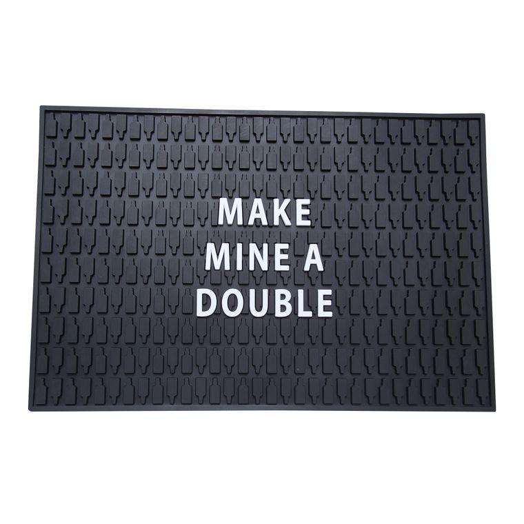 Make Mine a Double Bar Mat