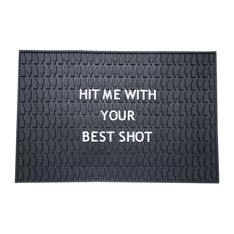 Hit Me With Your Best Shot Bar Mat