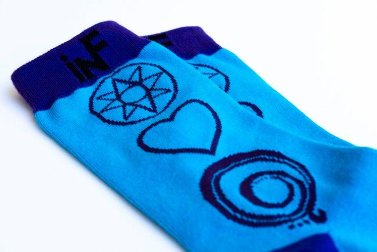 iNFable's HOPE, LOVE & GRATITUDE socks
