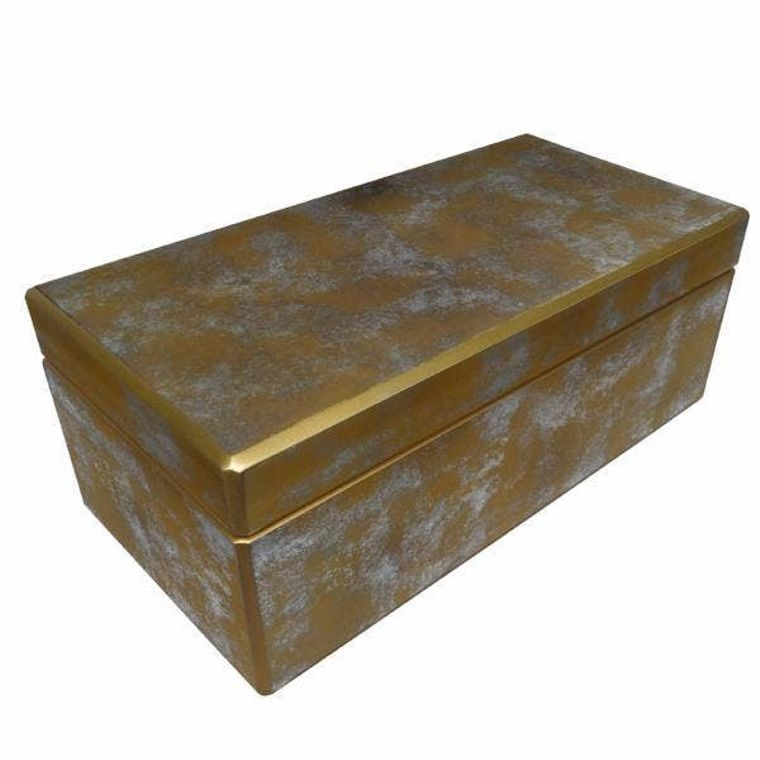 Reverse Painted Mirror Box - Large - in Gold and Silver