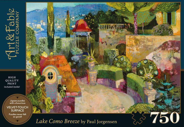 NEW! Lake Como Breeze; 750-pc Jigsaw Puzzle (European themed)
