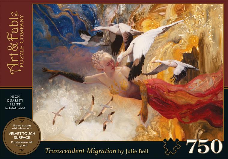 NEW! Transcendent Migration; 750-pc Velvet-Touch Jigsaw Puzzle (award winning)