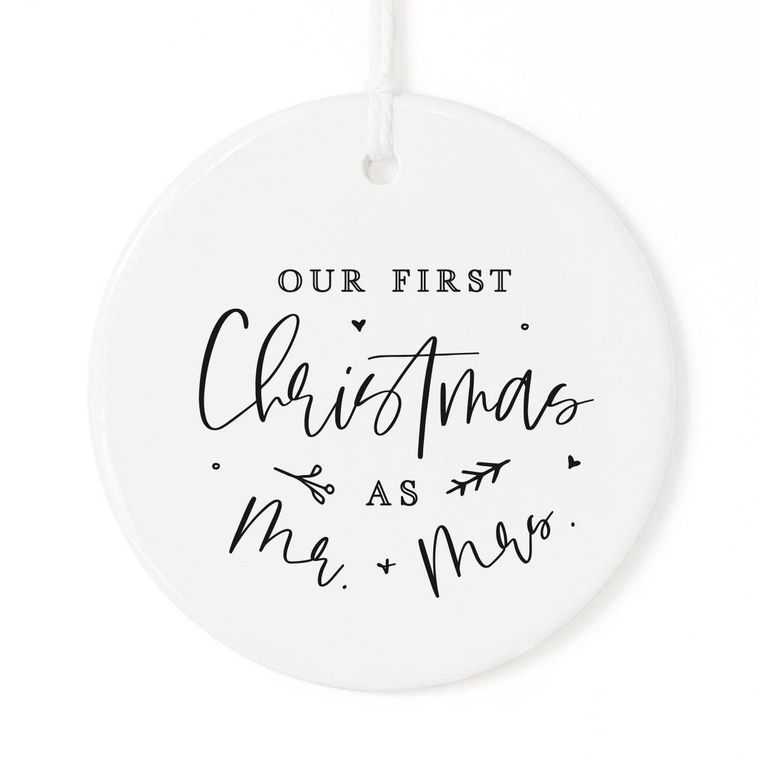 Our First Christmas as Mr. & Mrs Ribbon and Gift Box
