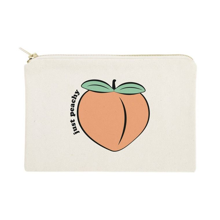 Just Peachy Beach Travel Make Up Pouch